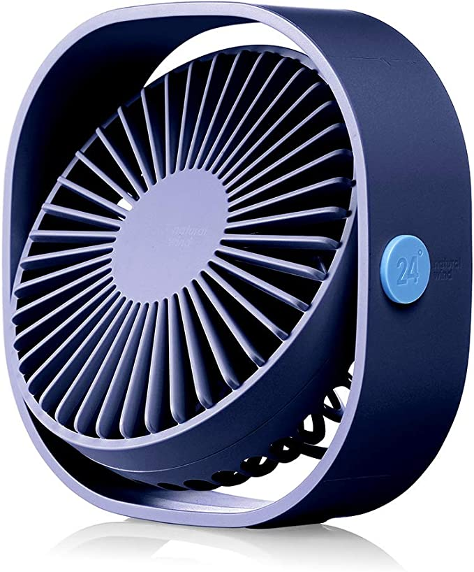 Lower Noise,Metal Frame Perfect Personal Cooling Fan for Home Office Desk USB Powered Desk Fan GONGting USB Fan Red