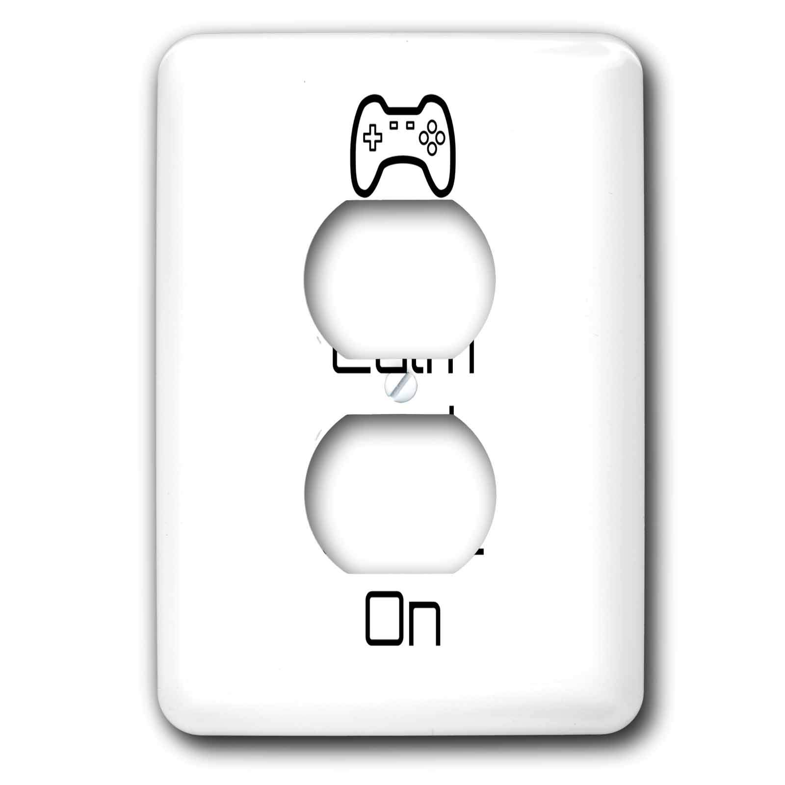 3dRose 3DRose Gabriella B - Quote - Image of Keep Calm And Game On Quote - Light Switch Covers - 2 plug outlet cover (lsp_291235_6)