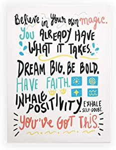 "Positive Quotes Wall Decor (12x16"") You've Got This Sign Inspirational Canvas Wall Art for Classroom, Nursery, Playroom, Teens, Kids, Boys, Girls, Bedroom"