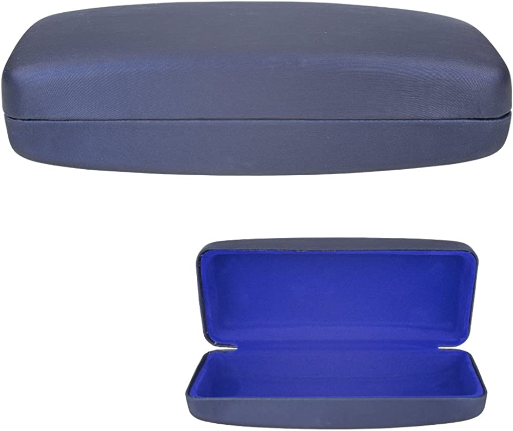 1 Large Sunglasses Case Hard Clam Shell 1 Protective Pouch Glasses Eyeglasses