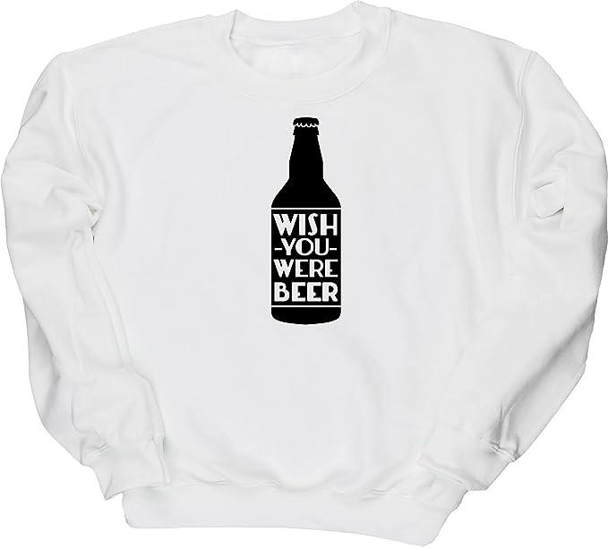 HippoWarehouse Wish You Were cerveza Unisex Jersey sudadera sudadera (específicos guía de tallas en la