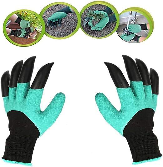 Guantes de jardín con garras (2019 actualización), guantes de jardín impermeables y transpirables para cavar plantas, el mejor regalo de jardinería para mujeres y hombres (1 par): Amazon.es: Jardín