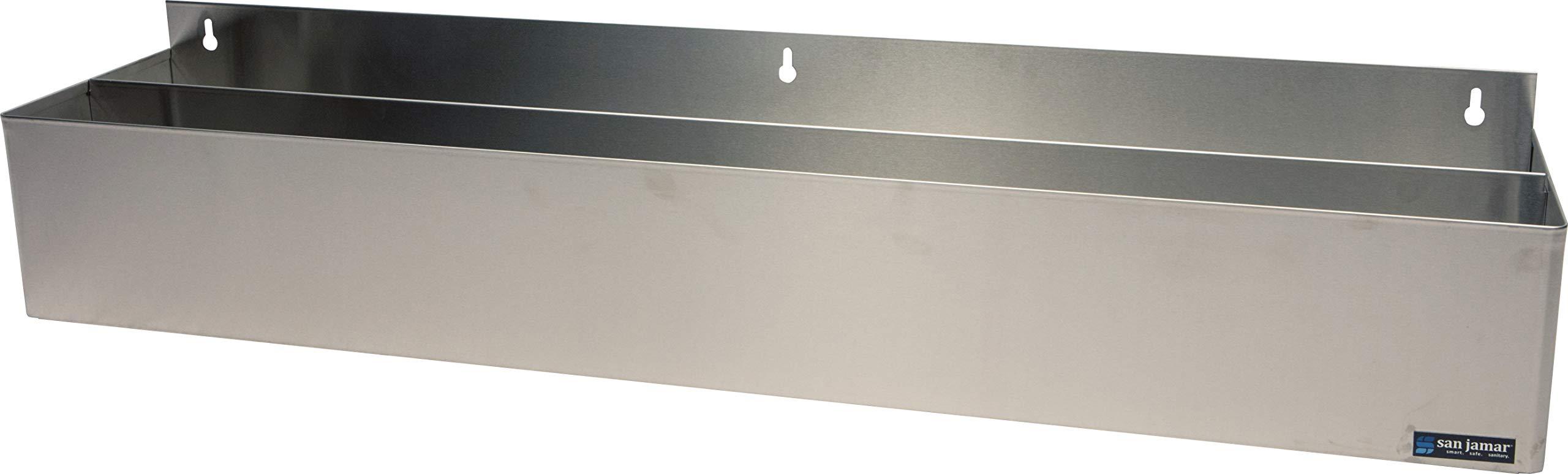 San Jamar B5542 Stainless Steel Single Rail Speed Rack Bottle Holder, 41-1/4'' Width x 6'' Height x 4-1/8'' Depth