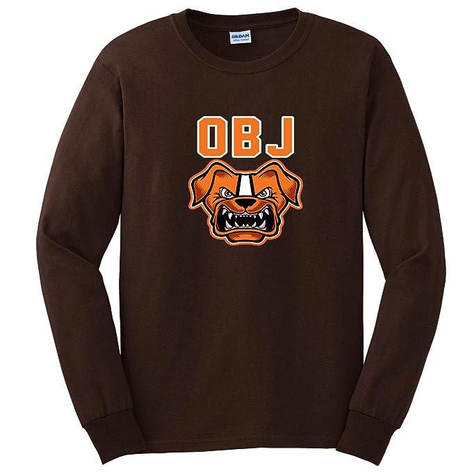 new arrival 356d7 81ec0 Long Sleeve Brown OBJ Beckham Jr Dawg Pound T-Shirt