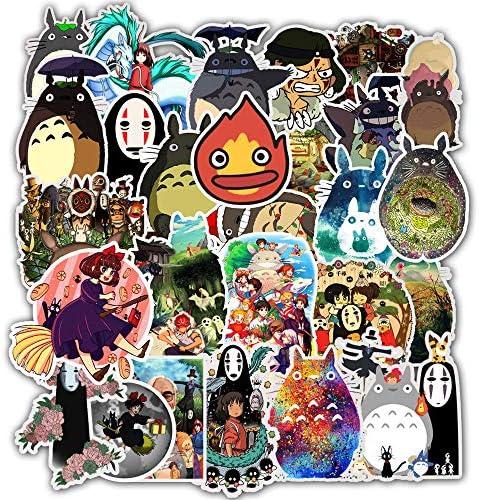 frigor/ífico Juego de 50 pegatinas Miyazaki Hayao Anime de dibujos animados Graffiti pegatinas para bricolaje equipaje motocicleta coche port/átil