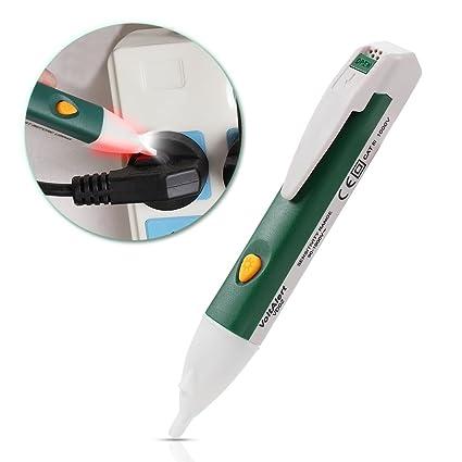 Probador de voltaje sin contacto con el modo de alarma de linterna Led Detector de voltaje