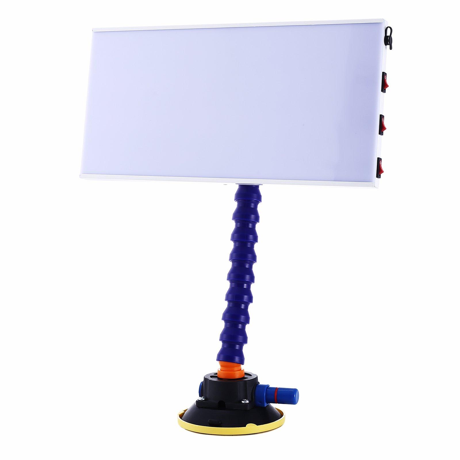 Popsport PDR Lamp LED 12V DC PDR Light 110V PDR Strip Line Board Paintless Dent Repair Removal Light for Auto (12V DC)