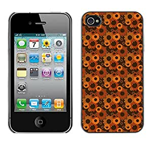 ZECASE Funda Carcasa Tapa Case Cover Para Apple iPhone 4 / 4S No.0002929