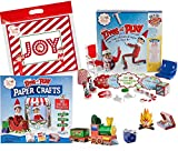 Elf On The Shelf Gift Set - Elves at Play 15 Piece Tool Set with Scout Elves at Play Paper Crafts and Exclusive Joy Bag