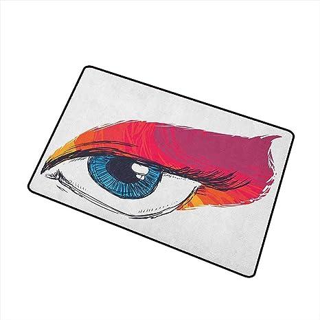 Amazon Com Eye Welcome Doormat Simple Sketch Art Of A