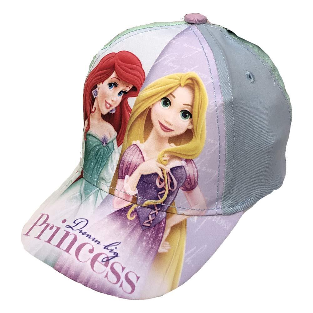 WD20246//2-52 CAPPELLO Principesse Disney Ariel Rapunzel con Visiera Taglia 52 Regolabile