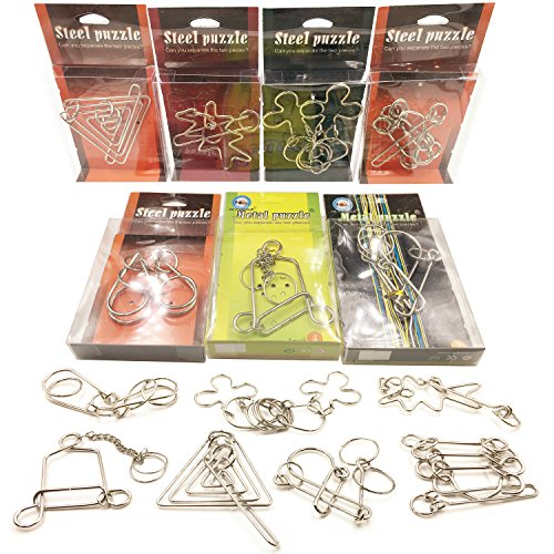 Sea Team New Arrival Brain Teaser Metal Wire IQ Puzzle for Adult Children and Student - Set of 7