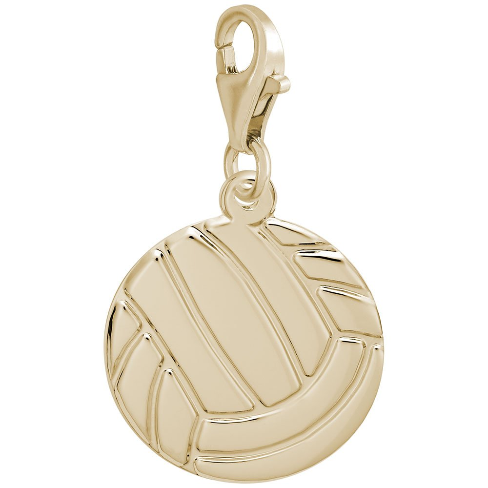 Volleyball Charm With Lobster Claw Clasp Charms for Bracelets and Necklaces