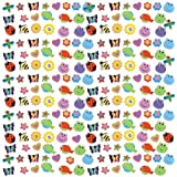"Party Perfect Assorted Bugs and Animals Mini Eraser Mega Value Pack Favours, Rubber, 7"" x 7"" (Pkg. Size), Pack of 500"