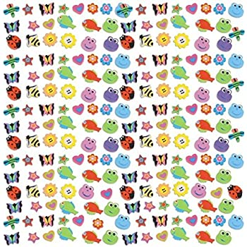 """Party Perfect Assorted Bugs and Animals Mini Eraser Mega Value Pack Favours, Rubber, 7"""" x 7"""" (Pkg. Size), Pack of 500"""