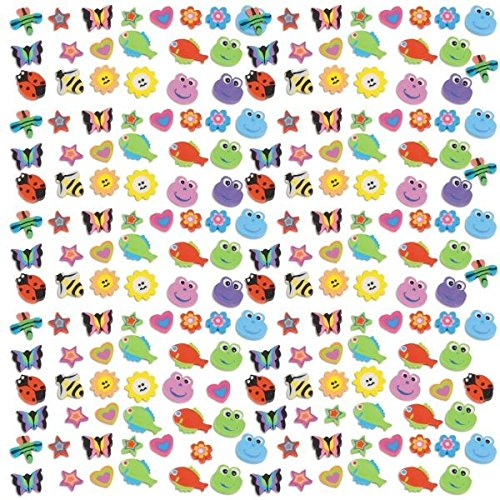 Party Perfect Assorted Bugs and Animals Mini Eraser Mega Value Pack Favours, Rubber, 7