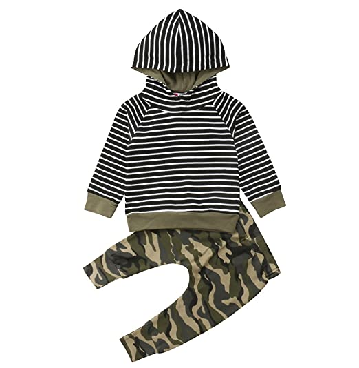 c53774962236e 2pcs Newborn Infant Baby Boys Girl Clothes Winter Warm Hooded Sweater Tops+Pants  Long Sleeve