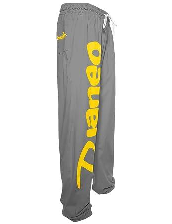 Djaneo Jogginghose Baumwolle Rio Herren und Damen Sporthose grau und gelb  Größe M b8feb9fdb9
