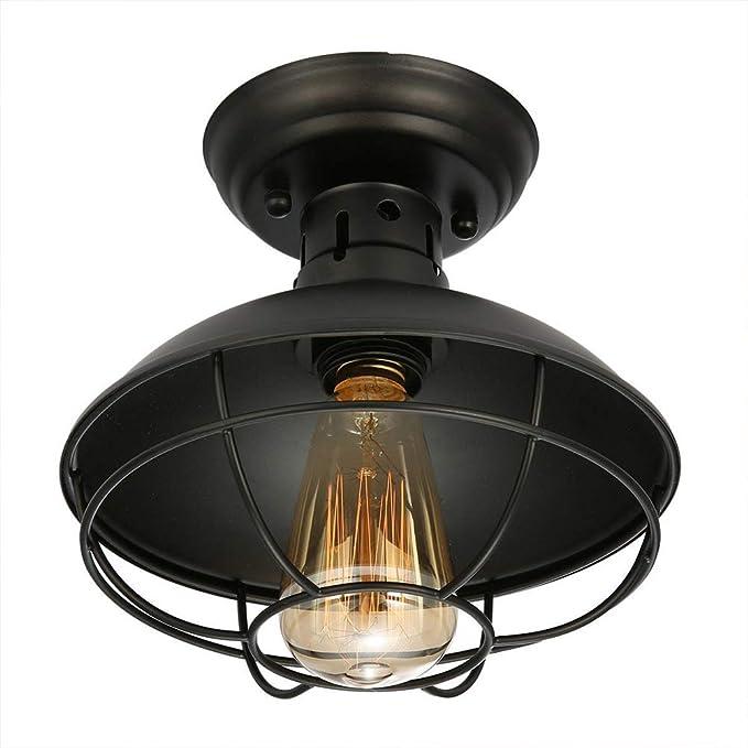 Amazon.com: Lámpara de techo de jardín industrial rústico ...