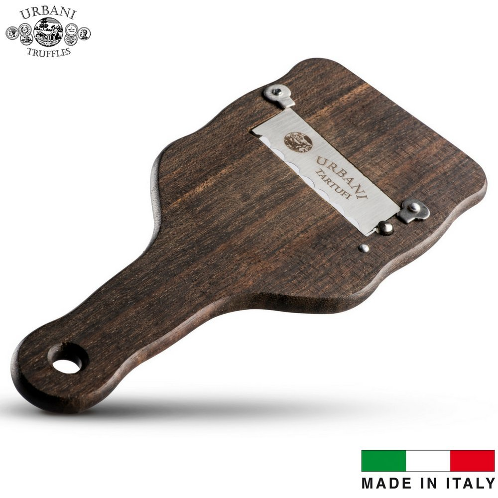 Professional Oak Wood Truffle Slicer / Shaver / Cutter by Urbani Truffles. Made In Italy With Premium, Highest Quality, Stainless Steel, Easily Adjustable Blade. Beautiful Design. by Urbani