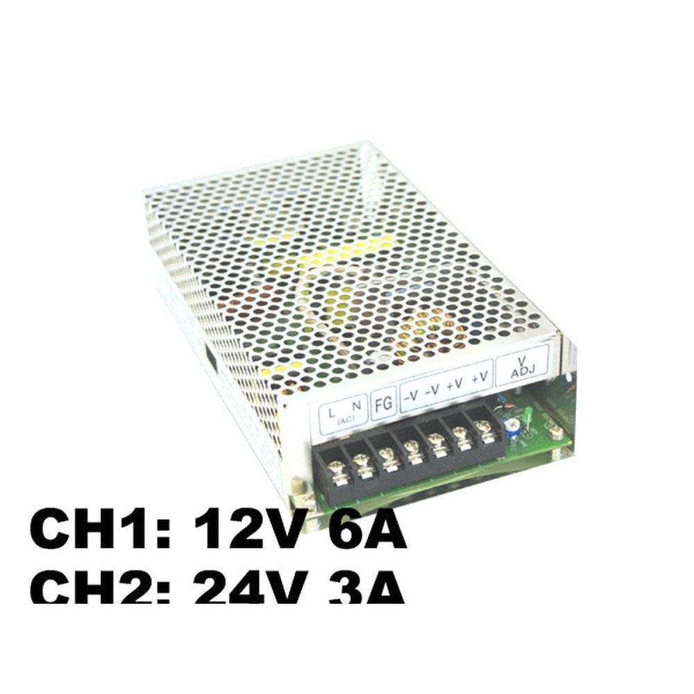 220VAC 12V 6A /& 24V 3A Miniature Power Supply ElectronicNova 150W Power Supply with Dual Switching D-150C 110