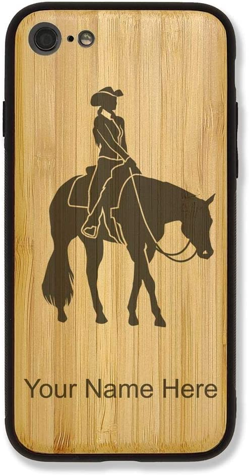 Coque Bambou Compatible iPhone 5/6/7/8 Western Pleasure Cheval ...