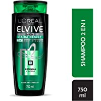 Shampoo 2 en 1 Caída Resist Men Elvive L'Oréal Paris 750 ml