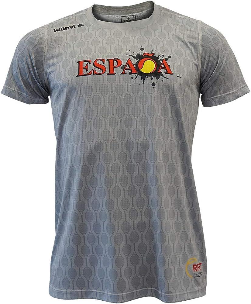 Luanvi Edición Limitada Camiseta técnica España, Hombre, Gris, S (47-67cm): Amazon.es: Ropa y accesorios