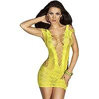 CheChury Mujer Ropa de Dormir Conjunto Sexy Transparente Lingerie Escotado por Detrás Lace Lenceria Erotica Babydoll…