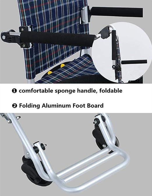 SXRNN Folding Portable 4 Whee Trolley Aluminio Ayuda con ...