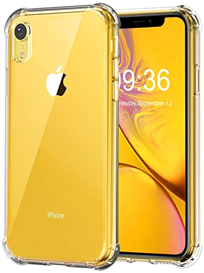 Matone for iPhone XR Case, Crystal Clear Slim Protective Cover with Reinforced Corner Bumpers, Flexible Soft TPU Anti-Scratch Case for Apple iPhone XR ...