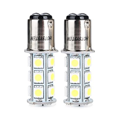 HOTSYSTEM 1157 LED Light Bulbs DC12V BAY15D 2357 P21/5W 18-5050 SMD for Car RV SUV Camper Trailer Trunk Interior Reversing Backup Tail Turn Signal Corner Parking Side Marker Lights(White,Pack of 2): Automotive