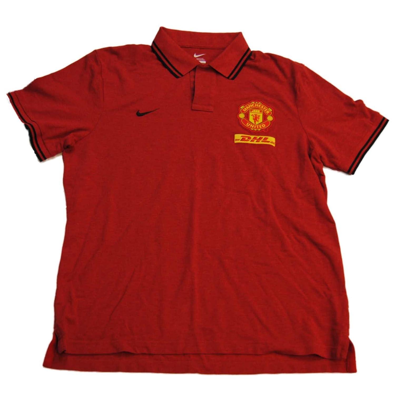 Nike Manchester United Rojo Futbol fútbol Polo de Golf de algodón ...