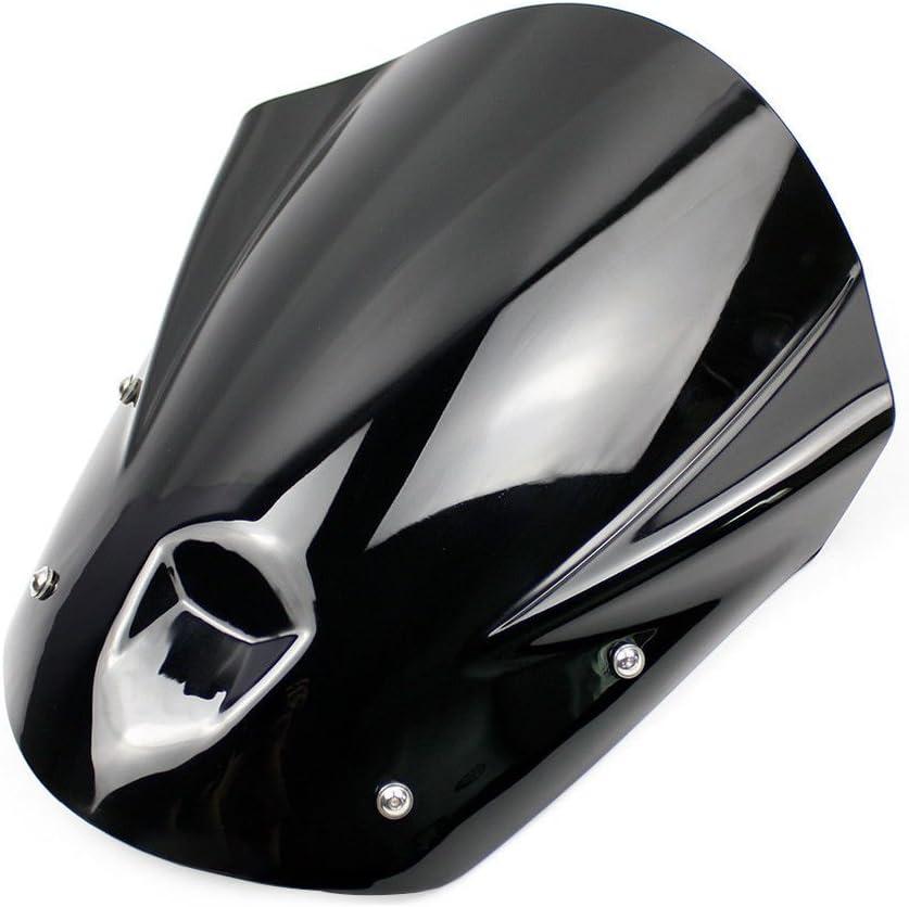 Smoke MT09 FZ09 Accessories Motorcycle ABS Windshield Windscreen Wind Shield Deflector Flyscreen Protector w//Mounting Bracket for 2013 2014 2015 2016 Yamaha MT-09 FZ-09