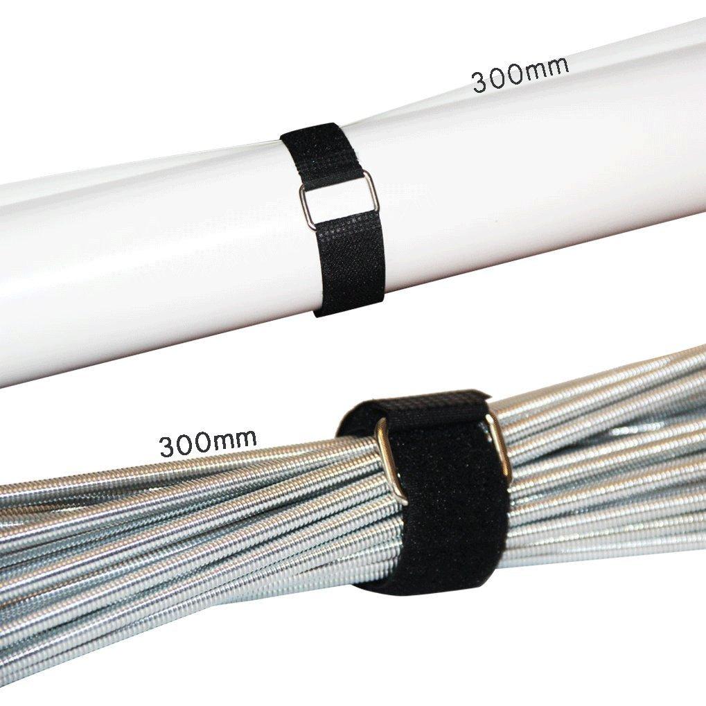 gancho ajustable multiusos y lazos para mantener los cables organizados Paquete de 20 sujetacables reutilizables con hebilla de metal