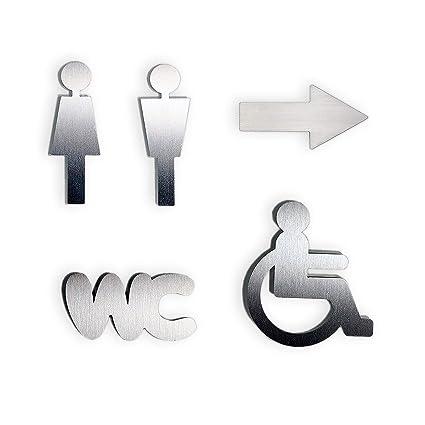 """Puerta de juego de """"mujer + Hombre + silla de ruedas + flecha +"""
