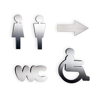 T/ürschild Set SymbolFrau+Mann Toilettenschild MATT