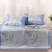 Summer sleeping mat Cool Mattress Ice Silk Mat 3-piece Foldable Air-conditioned Mat Student Dormitory Smooth Mat 0.9m 1.2m 1.5m (Size : 1.2m (4 ft) bed)
