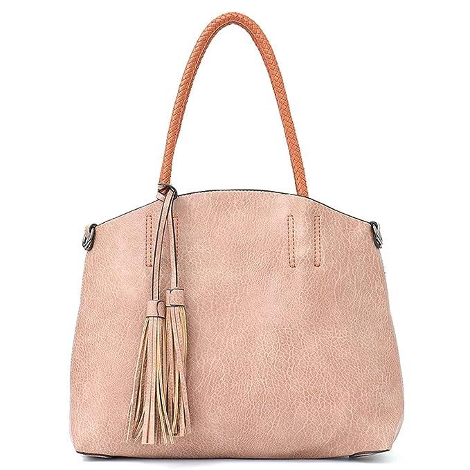 3cf21462fbef Amazon.com  Handbag Women Large Bucket Shoulder Bag Black  Sports   Outdoors