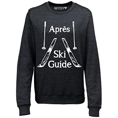 Batch1 Women s Apres Ski Guide Winter Ski Snowboard Novelty Sweatshirt  Jumper X-Small Black dbeb4d284