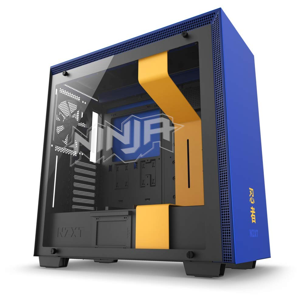 NZXT H700i - Licensed Ninja Edition - ATX Mid-Tower PC Gaming Case - Radium-Etched Ninja Logo - RGB and Fan Control - Enhanced Cable Management System – Water-Cooling Ready - 2018 Model
