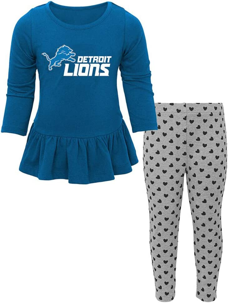 OuterStuff NFL Toddler Girls Tiny Trainer Long Sleeve Shirt /& Pants Set