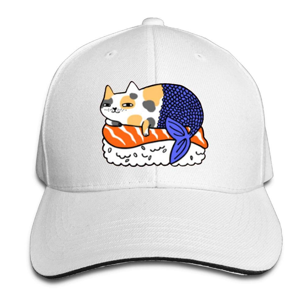 Sushi Salmon Sushi Cute Cat Sandwich Hat Baseball Cap Dad Hat