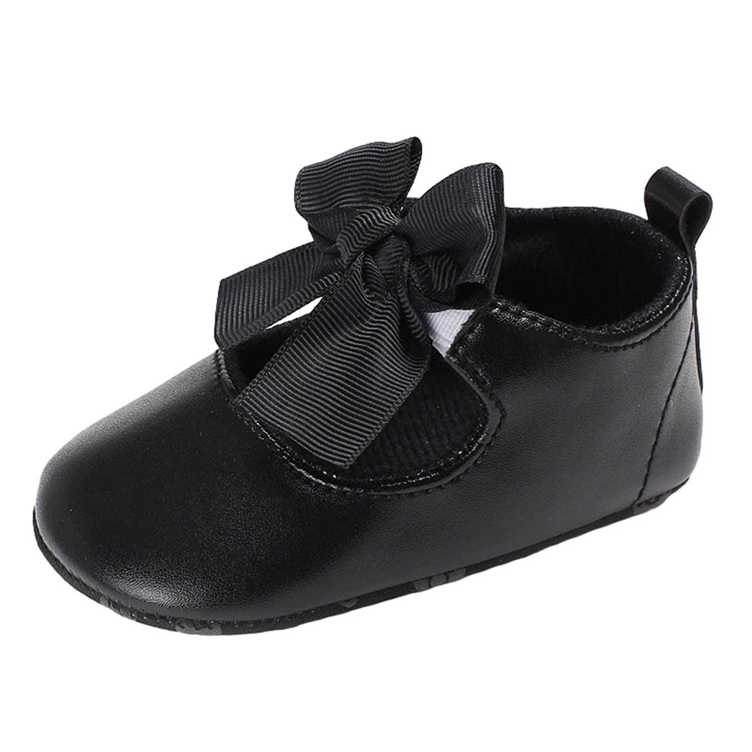 Yuncai Fashion Solid Color Baby Girl Princess Shoes Soft Bottom Baby