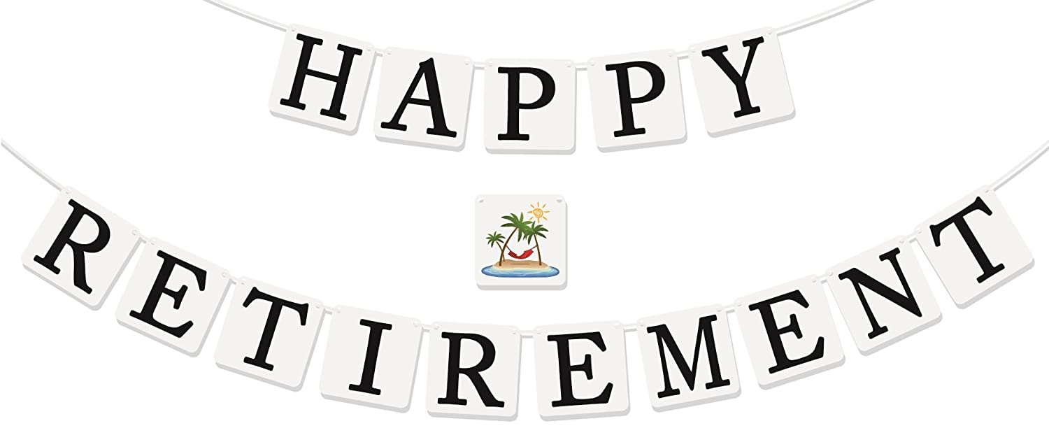 "Amazon.com: ""Happy Retirement"" Banner - Retirement Party Supplies ..."