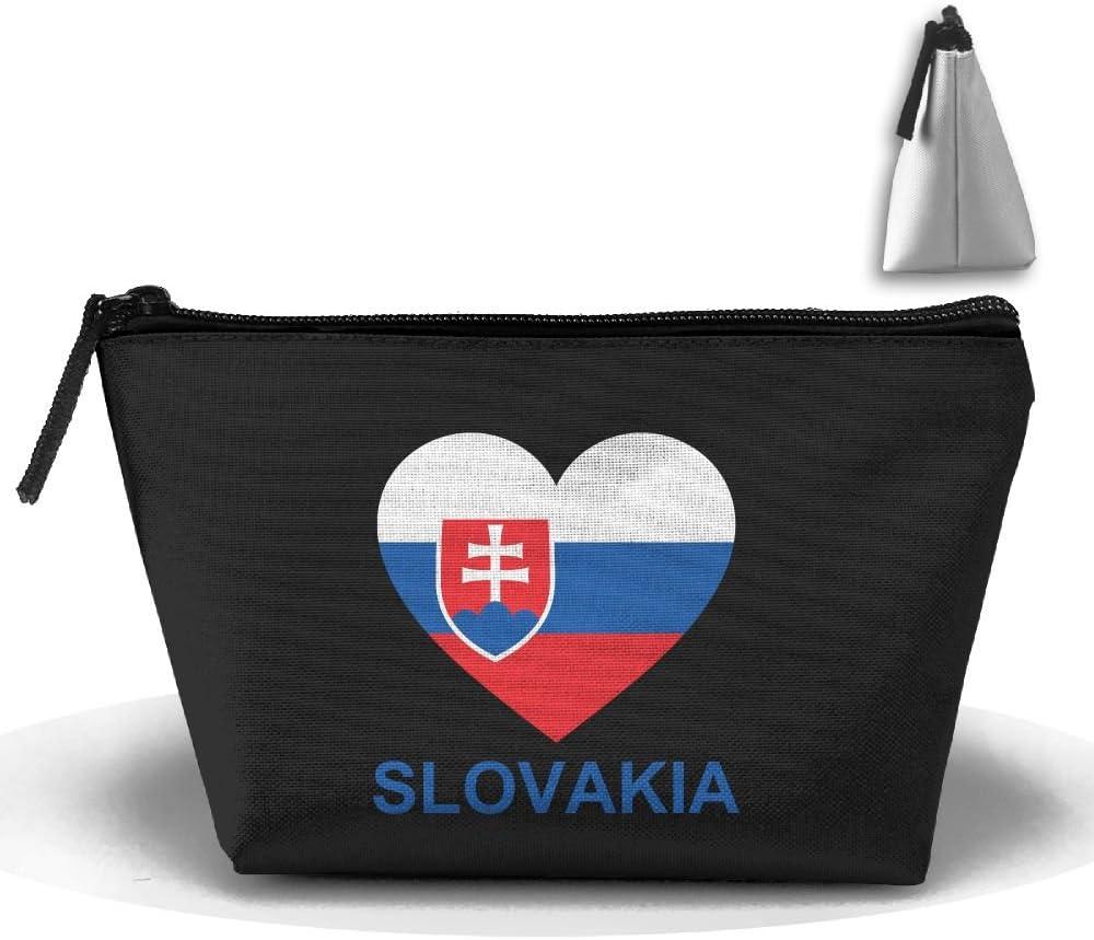 Love Slovakia Trapezoid Travel Storage Pouch Clutch Bag Organizer