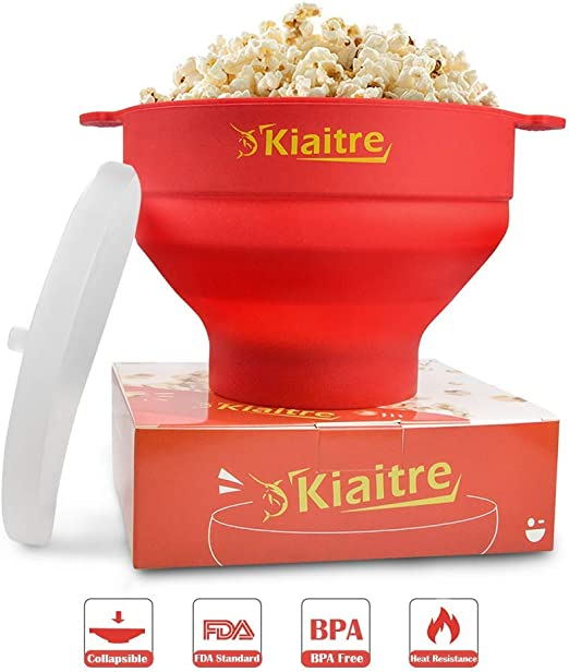 Microwave Popcorn Pop Corn Maker Silicone Red Snack Healthy