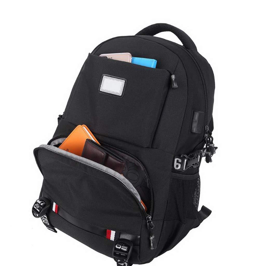 Fashion Men Women Travel Backpack USB Port Shoulder Laptop Bag Rucksack Casual Daypack Bookbags Nylon Zipper