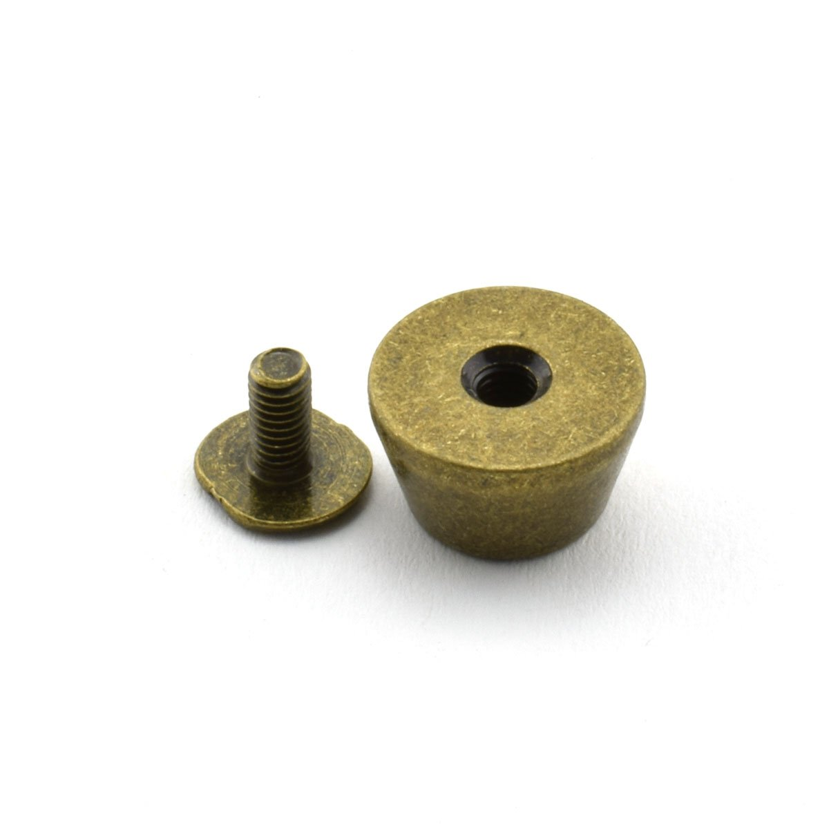 LQ Industrial 25-Pack 1//2 Purse Handbag Feet Nailhead Flat Stud Solid Brass Screw-Back Spike Metal Cone Studs Rivet Leather Craft DIY Black