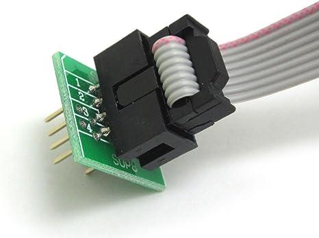 Wingoneer Soic8 Sop8 Test Clip Für Eeprom 93cxx 25cxx 24cxx In Circuit Programmierung 2 Adapter